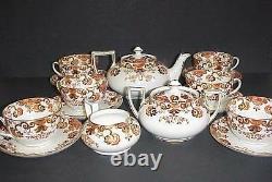 Samuel Radford Imari Tea Pot Cups Saucers Antique Set Beautiful
