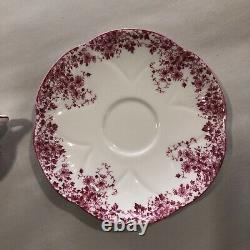 Shelley England Dainty Pink Fine Bone China Dainty Tea Cup and Saucer Set