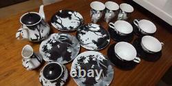 Snow White Seven Dwarfs Bambi Tea pot & Mug cup & Cake dish & Saucer Family set