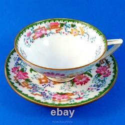 Stunning Handpainted Flowers & Urns Mintons Tea Cup and Saucer Set