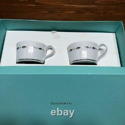 TIFFANY & Co. Cup & Saucer Pair 2 Customer Set Coffee Cup Tea Cup FS NEW