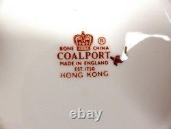 Tea Cup and Saucer Coalport Hong Kong Set of 6