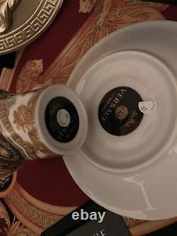 VERSACE CUP SAUCER SET COFFEE TEA LOVE BAROQUE MEDUSA Rosenthal NEW Retail $300