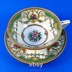 Very Ornate Floral and Garlands Kenora Mintons Tea Cup and Saucer Set