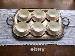 Vintage Copeland Spode England Tea Cup & Saucer Fairy Dell Old Mark (set 6)