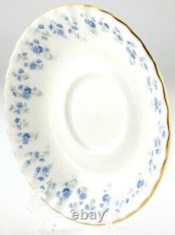Vintage Footed Tea Cup Saucer Set Of 4 Royal Albert Memory Lane Bone China Q707