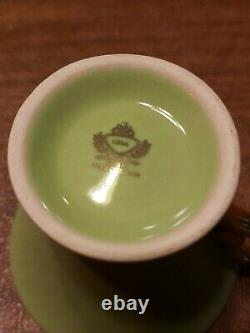 Vintage GNA Fine Porcelain Cup & Saucer Tea Set Espresso Made In Italy