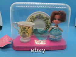 Vintage Liddle Kiddles Lady Silver Tea Party Set Cup Saucer Little Doll Rare HTF