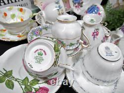 Vintage Lot of 10 tea cup and saucer Paragon Royal albert roses Teacup lot set