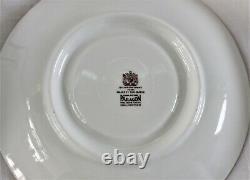 Vintage Paragon Square Wide Mouth Burgundy & Gilt Accents Tea Cup & Saucer Set