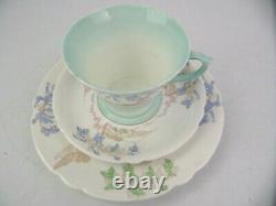 Vintage Regent Shape Shelley Trio Set Tea Cup Saucer Side Plate Reg. No 781613